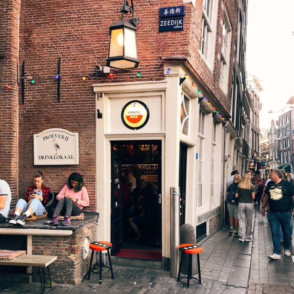 Amsterdam bar red light district streetlife